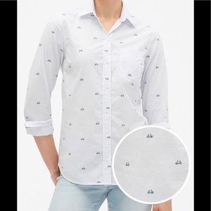 🆕 Print Fitted Boyfriend Shirt !